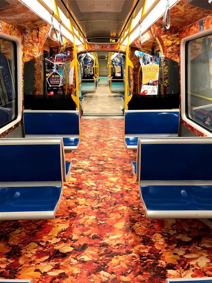 autunno metro lilla milano pubblicità