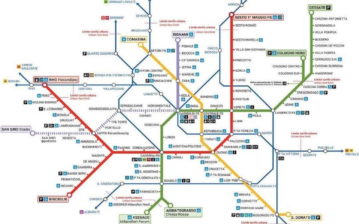 Cartina Metro Rossa Milano.Metro Rossa Linea M1 Di Milano Le Fermate Gli Orari E La Mappa Milano Notizie